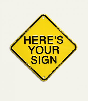 heres you sign