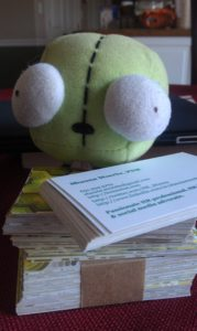 Gir has all his business cards ready!
